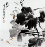 石云轩 国画写意花鸟画 三尺斗方《荷风》荷花1-17