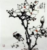 石云轩 国画写意花鸟画 三尺斗方《玉兰花》11-25