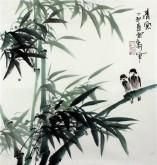 石云轩 国画写意花鸟画 三尺斗方《清风》竹子11-9