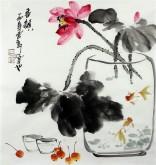 石云轩 国画写意花鸟画 三尺斗方《香韵》荷花1-27