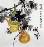 石云轩 国画写意花鸟画 三尺斗方《福禄》葫芦11-28