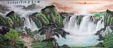 (已售)墨宇(周卡)国画聚宝盆山水画 小八尺横幅 2.4米《旭日东升》