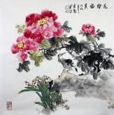 石云轩 国画写意花鸟画 四尺斗方《花开富贵》牡丹12-3