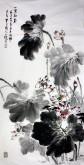 石云轩 国画写意花鸟画 四尺竖幅《一堂和气》纯荷花12-21