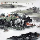 (已售)杨秀亮(吉林省美协) 国画山水画 精品四尺斗方《江南秋意》