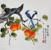 凌雪 三尺斗方 国画写意花鸟画《事事如意》1-12柿子