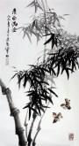 石云轩(广西美协) 三尺竖幅《清风满堂》竹子13-8