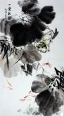 石云轩(广西美协) 三尺竖幅《一堂和气》荷花13-1