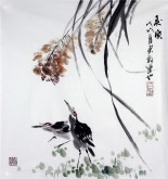 石云轩 国画写意花鸟画 三尺斗方《秋风》13-7