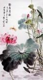 (已售)石云轩(广西美协) 三尺竖幅《荷香清韵》荷花14-2
