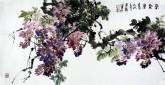 石云轩(广西美协) 三尺横幅《紫气东来》紫藤14-21