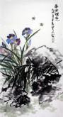 石云轩(广西美协) 三尺竖幅《春风得意》兰花14-6