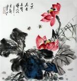 石云轩 国画写意花鸟画 三尺斗方《十里荷香弄晴晖》荷花14-10