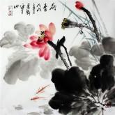 石云轩 国画写意花鸟画 三尺斗方《荷香》荷花14-2