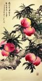 石云轩 四尺竖幅《瑶池仙品世稀有 相见得寿三千年》寿桃14-7