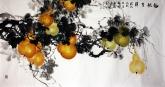 石云轩 国画花鸟画 四尺横幅《福禄吉祥》葫芦15-2