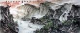 (已售)墨宇(周卡)国画聚宝盆山水画 小八尺横幅 2.4米《江山如画》