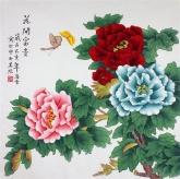凌雪 四尺斗方 国画花鸟画《花开富贵》牡丹13-2