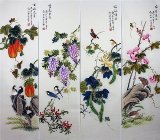 凌雪 国画花鸟四条屏《花鸟四条屏》 2-5