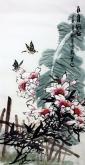 石云轩 三尺竖幅《百年好合》3-19百合花