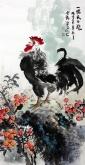 石云轩 三尺竖幅《一鸣天下晓》3-22公鸡