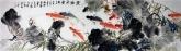 石云轩 国画九鱼图 六尺对开横幅《莲塘鱼乐》荷花鲤鱼3-7