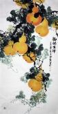 (已售)石云轩 国画花鸟画 四尺竖幅《福禄吉祥》葫芦3-8