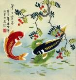 凌雪 三尺斗方 国画写意花鸟画《年年有余》鲤鱼3-1